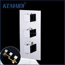 KEMAIDI Bathroom Shower Mixing Valve Mixer Tap Bath Shower Faucet Mixer Valve Wall Mounted Faucets Shower Faucets Valve(China)