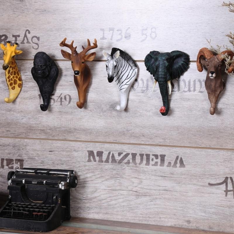 Hotel home cafe wall hook animal shape hook profile (1)_