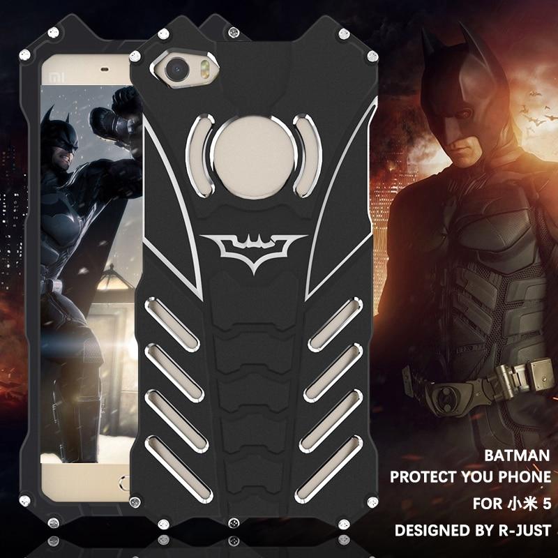 imágenes para Caso de Lujo del Metal De Aluminio Cubierta de Xiaomi Mi5 Heroes Película The Dark Knight Batman Elemento Caso de Parachoques Para Xiaomi mi 5 M5/Mi5 Pro