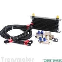 10 ROW OIL COOLER KIT FOR NISSAN Silvia S13 S14 S15 180SX 200SX 240SX SR20DET