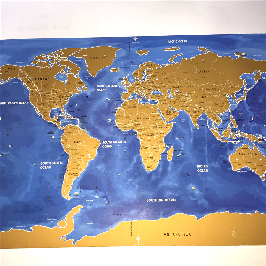 Deluxe scratch gold blue vintage world map retro wall art sign deluxe scratch gold blue vintage world map retro wall art sign crafts sticker paint old ancient paper maps decor 59x82cm in painting calligraphy from home gumiabroncs Image collections
