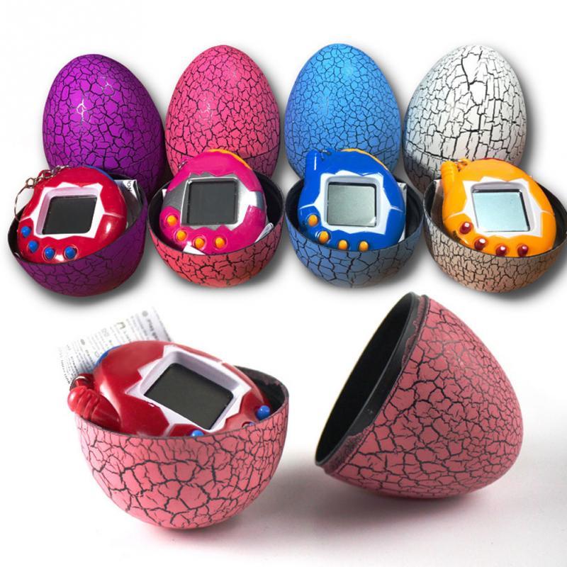 Multi-colors Dinosaur egg Virtual Cyber Digital Pet Game Toy Tamagotchis Digital Electronic E-Pet Christmas Gift