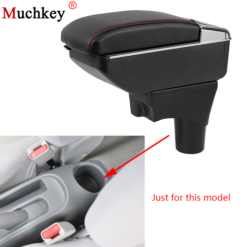 Armrest box For Nissan Micra March 10-16 Central Console Arm Store content box cup holder ashtray With Rise and Down Function