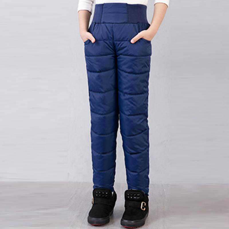 Clearance Winter Thicken Warm Slim Clothes new style Boys Long Pants Children Girls Trousers For Girls Baby Kids(China)