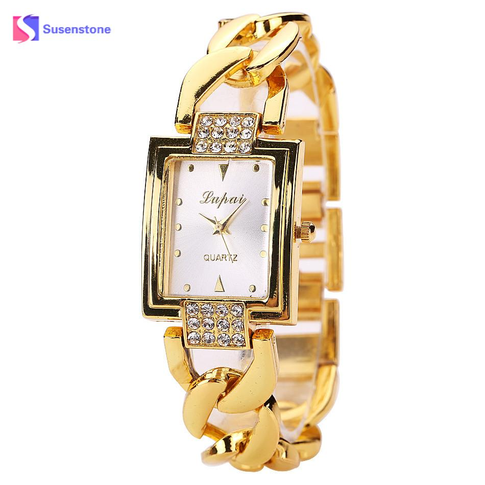 Fashion Brand Luxury Quartz Wristwatches Luxe Ladies Bracelet Watch Elegant female clock Casual Wrist watches for women girls fashion brand women casual simple chain quartz wristwatches analog dial watch band casual chain wrist watches clock for girls