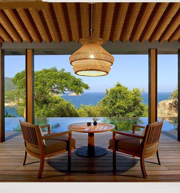 Sud est Asie Zen Jade Bambou Pendentif LightsRestaurant Boîte ...
