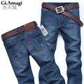 Venda quente! 2016 New chegou Clássico top designer famosa marca reta calças de brim dos homens de moda da Europa e América estilo denim jeans homem