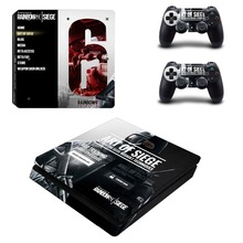 Rainbow Six Siege PS4 Slim Skin Sticker Decal Vinyl for Sony Playstation 4 Console and 2 Controllers PS4 Slim Skin Sticker