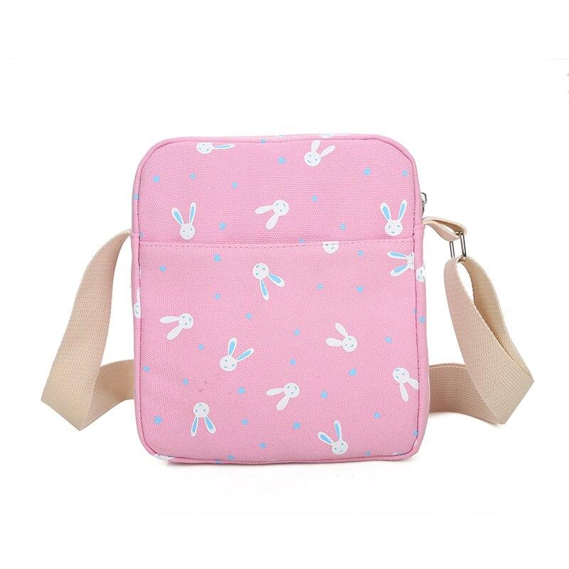 Прямая поставка школьная сумка комплект холст Кролик Печать Рюкзак + сумка + кошелек + Карандаш сумка для девочек-подростков кролик кулон рю...