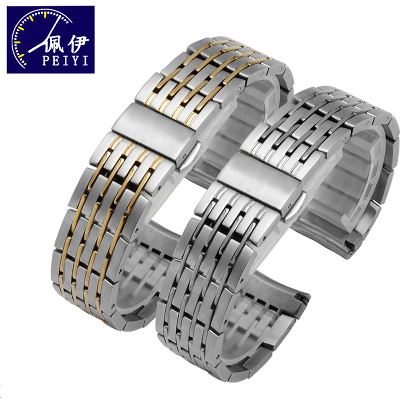 PEIYI Watchband 20mm Stainless Steel Strap Replacement Metal Wristband for DE VILLE men watch steel bracelet for omegaPEIYI Watchband 20mm Stainless Steel Strap Replacement Metal Wristband for DE VILLE men watch steel bracelet for omega