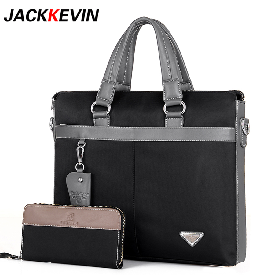 Man Business Bags Waterproof Nylon Oxford Cloth Cross-section Briefcase Men Shoulder Messenger Bag Casual Canvas Handbags