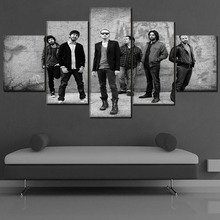 Canvas Pictures Wall Art Framework HD Prints Music Poster 5 Piece The Band Linkin Park Paintings For Living Room Home Decor