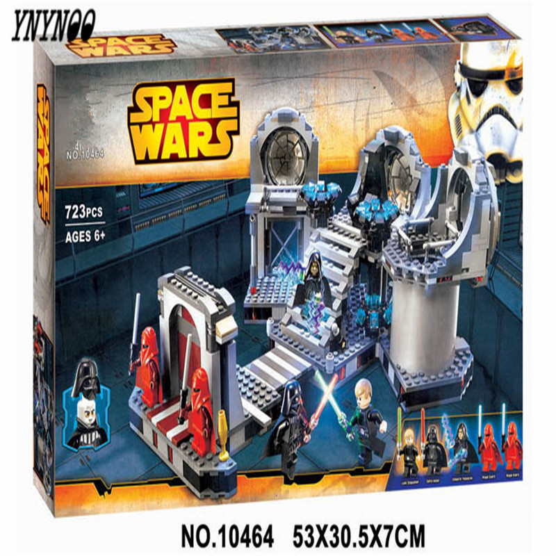 YNYNOO 2017 NEW 10464 Star Wars series the Death Star Final Duel model building block Classic Toys Compatible with Lepin 75093 10464 bela star wars death star final duel model building blocks classic enlighten figure toys for children compatible legoe