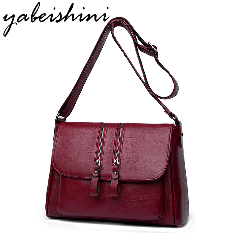 YABEISHINI 2018 Fashion Woman Bag Designer Leather Women Messenger Bags Brands Female Shoulder Crossbody For Sac
