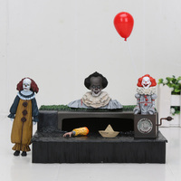 NECA Stephen King's IT Ultimate Joker Pennywise Accessory Set Figure PVC Action Figure Collectible Model Toys 4 8CM