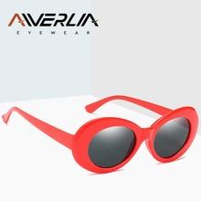 e918d945c AIVERLIA خمر البيضاوي النظارات الشمسية المرأة العلامة التجارية مصمم نظارات  شمسية للنساء نظارات الإطار الأسود Oculus
