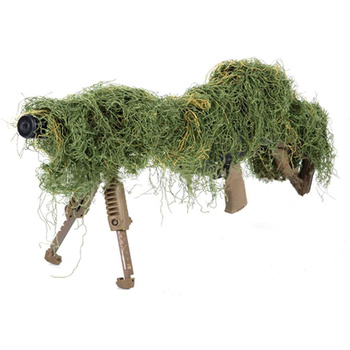 1.2M Airsoft Hunting Blind Ropes Camouflage Ghillie Suit Accessories Elastic Synthetic Fiber Mlitary CS Hunting Blind Gun Wraps 1