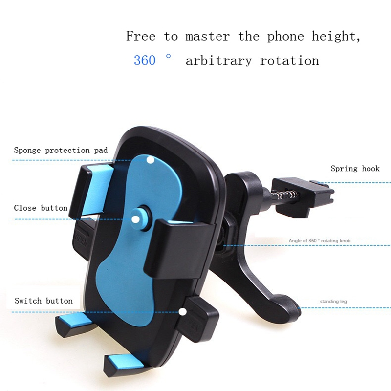 Universal Car Phone Holder For iphone X 8 7 6S Air Vent Mount 360 Adjustable Car Holder Mobile Phone Stand For Samsung s8 s9