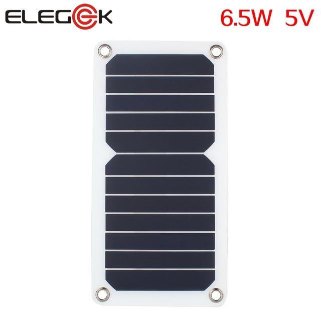 ELEGEEK 6.5 W 5 V Portátil Saída USB Carregador da Célula Solar Painel Sunpower Semi Flexível painel solar de Alta Eficiência para celular