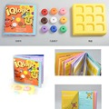 Hot Sell Kids IQ Logic Puzzle Nine Color Game Puzzles Toy for Children Early Educational Toys Table Games FL