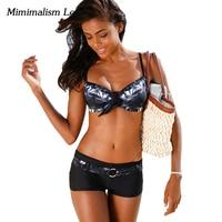 Minimalism Le Sexy Bandage Bikini 2017 New Women Swimsuit Push Up Bikini Set Beach Wear Retro