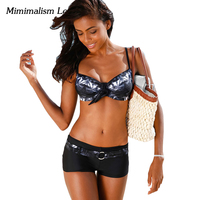 Minimalism Le Sexy Bandage Bikini 2017 New Women Swimsuit Push Up Bikini Set Beach Wear Retro