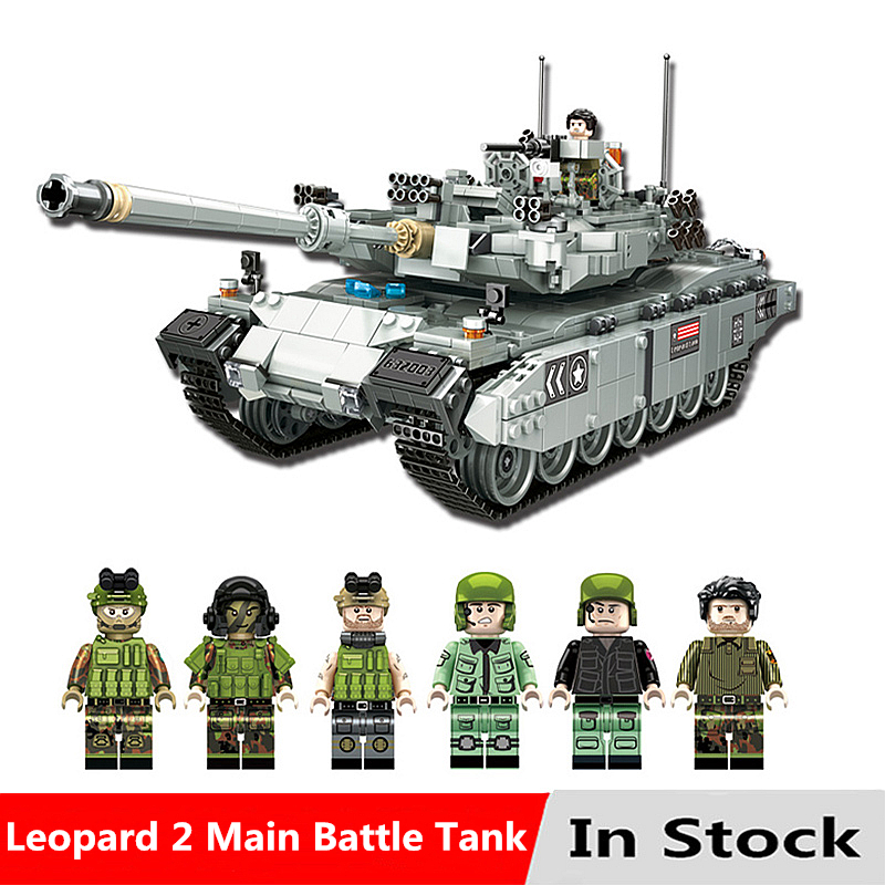 Military Series The Leopard 2 Main Battle Tank Kits Model Set Compatible With Legoingly Building Blocks Bricks Toys For ChildrenMilitary Series The Leopard 2 Main Battle Tank Kits Model Set Compatible With Legoingly Building Blocks Bricks Toys For Children