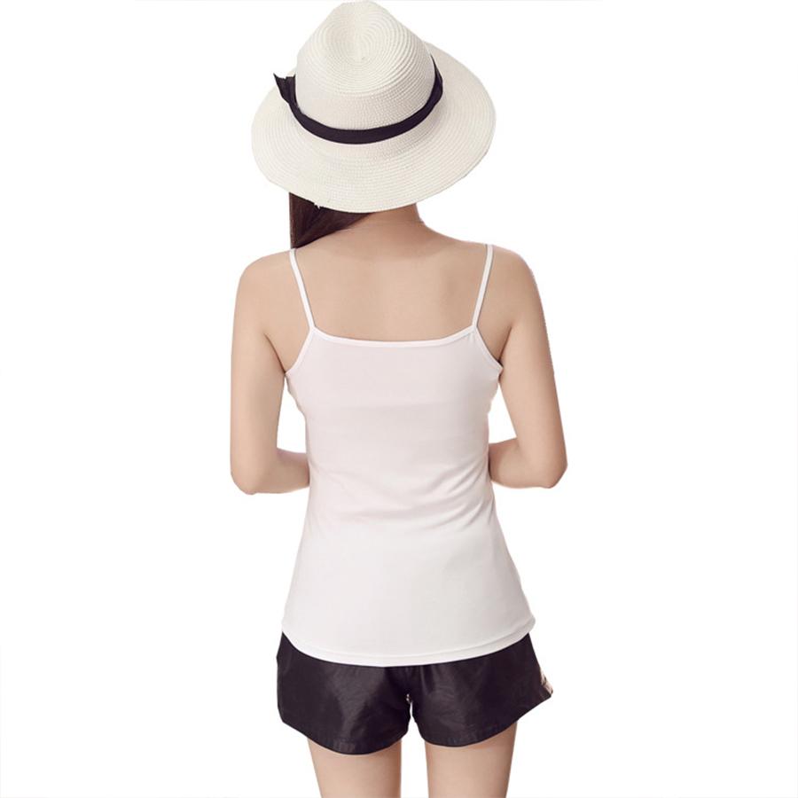 Image 3 - New Sexy Ultra thin Women Sleeveless Tops Summer Party Spaghetti Strap Mini Vest Bodycon Ladies Vest Tanks Casual Camis Tops-in Camis from Women's Clothing