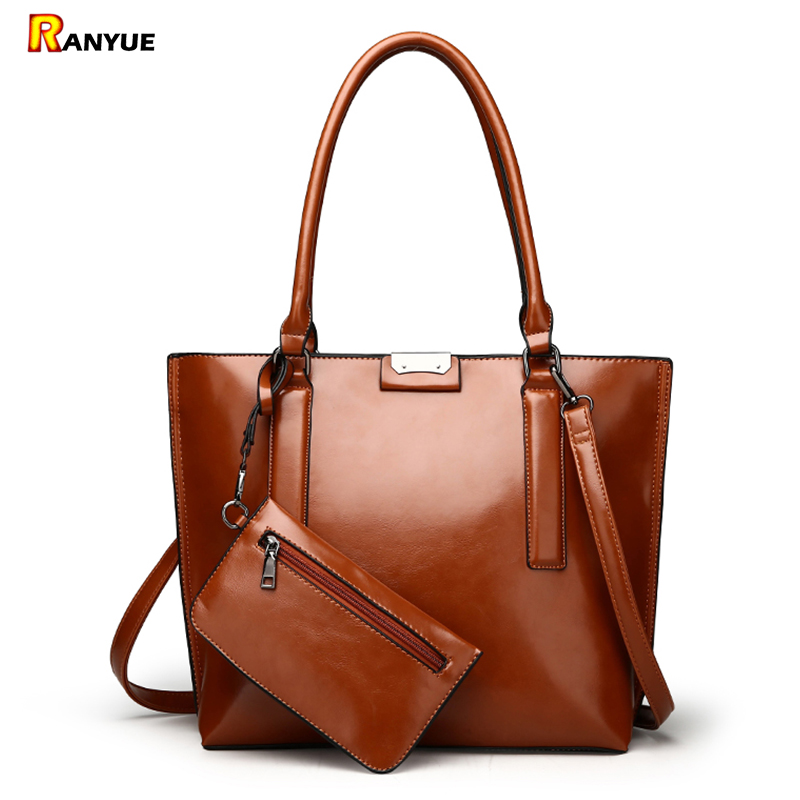 2xWomen Purses And Handbags Set 2017 Famous Brands Designer High Quality Pu Leather Women Bag Set Big Shoulder Bags Bolsos Mujer