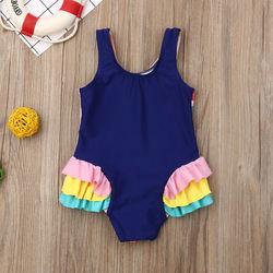 0-5T Kids One-piece Swimsuit Toddler Kids Baby Girls Cartoon Bikini Swimwear Swimsuits Bathing Suit Beachwear 5