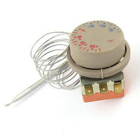 Freezer Adjustable Dial 30 To 30 Celsius Capillary Thermostat AC 16A 250V