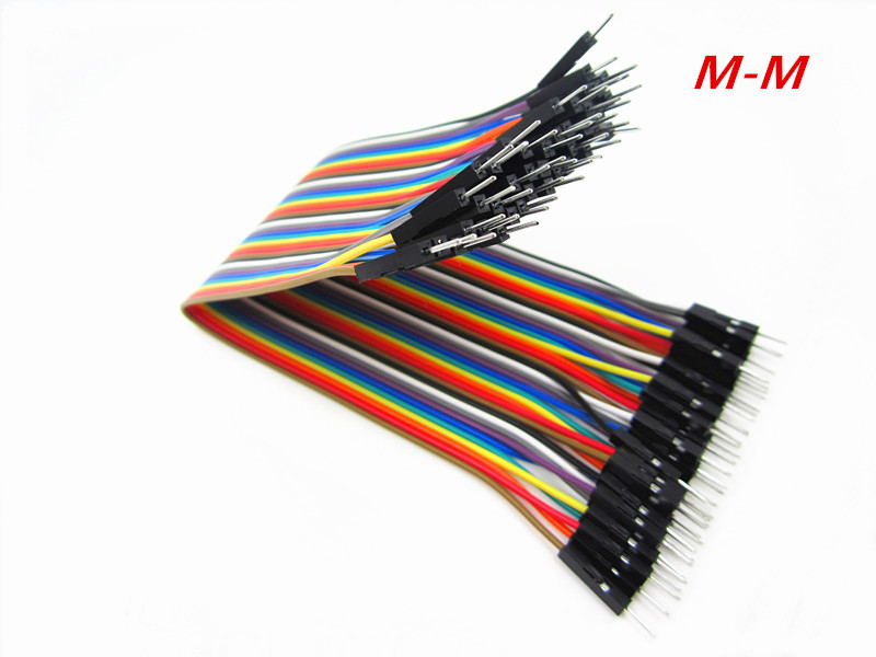 HAILANGNIAO New 40PCS in Row Jumper Wire Dupont Cable line 2P-2P 2.54mm Male to Male 20cm Breadboard Dropshipping TK0838
