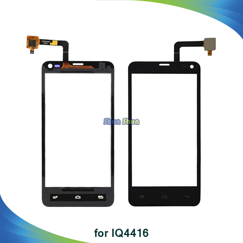 10pcs Screen for Fly IQ4416 IQ 4416 Era Life 5 Touch Screen Digitizer Sensor Front Glass Lens Panel Black White Phone Parts