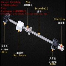 Шарикового винта SFU1204 250 мм 300 350 400 450 500 600 650 700 900 1000 мм станков шариковый винт RM 1605 конец механической обработке CNC