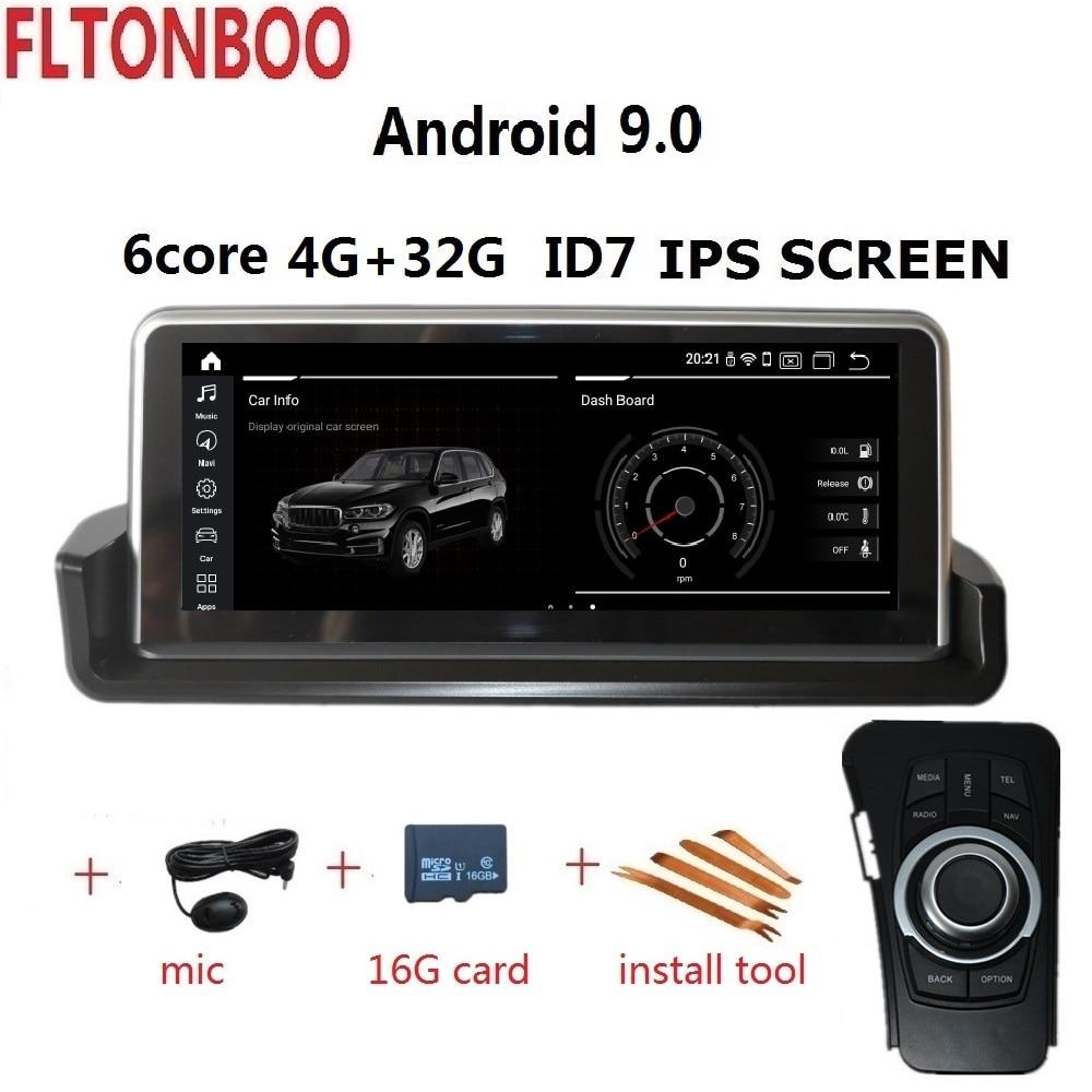 10.25 ''Android 9.0 do GPS do carro jogador de rádio navegação ID7 para BMW E90 E91 E92 E93 3 series 6 IPS núcleo wifi BT 32 4GB de RAM GB ROM
