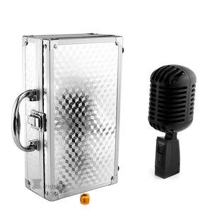 Image 5 - Micrófono Vintage dinámico Vocal profesional de Metal para Karaoke, altavoz, estudio de grabación, KTV, Jazz, controlador de escenario, amplificador
