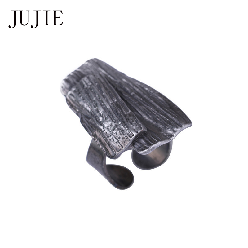 JUJIE Antique Bark Rings For Women 2018 Wedding Simple Ring Ring Plant Jewelry Dropshipping