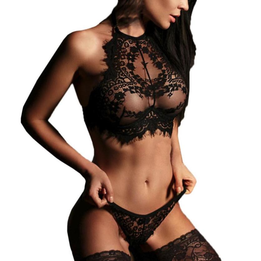 JAYCOSIN 2018 Fashion Women Sexy Lingerie Lace Flowers Push Up Top Bra Pants Underwear Set j26