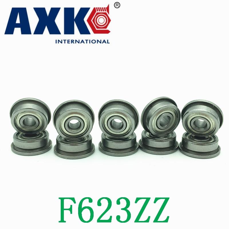 Free Shipping F623ZZ 3*10*4mm   flange bearing  f623 zz (10pcs/1 lot) Bushing ball bearings