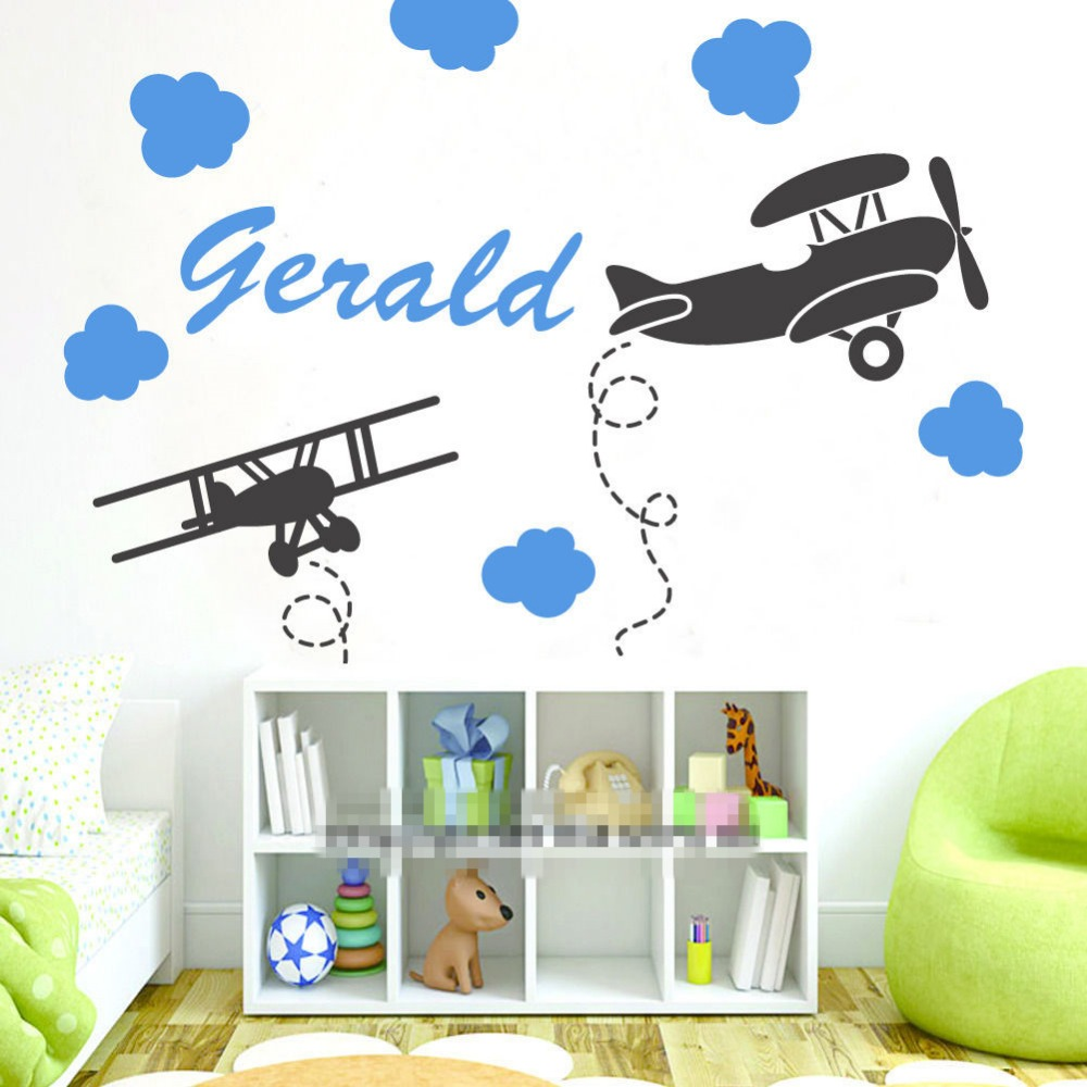 popular name wall buy cheap name wall lots from china name wall airplanes clouds custom personalized name wall stickers for kids room art nursery decal wall stickers home