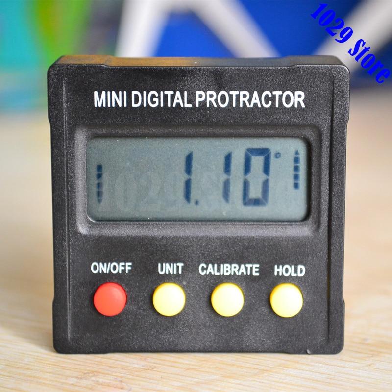 Mini Digital Protractor Inclinometer box Electronic Level Box Magnetic Base Measuring Tools with Gift Pouch electronic level ada prodigit mini