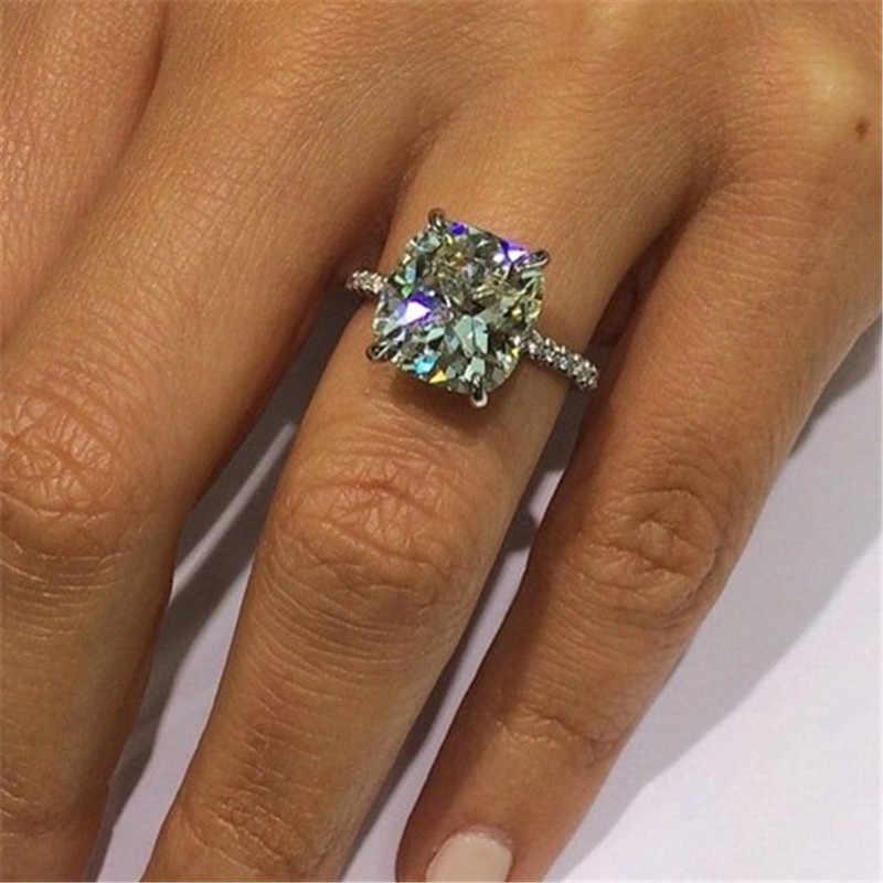 2019 Majeste แหวน 925 เงินสเตอร์ลิงตัด 2ct Sona CZ แหวนหมั้นแหวนเครื่องประดับเจ้าสาว