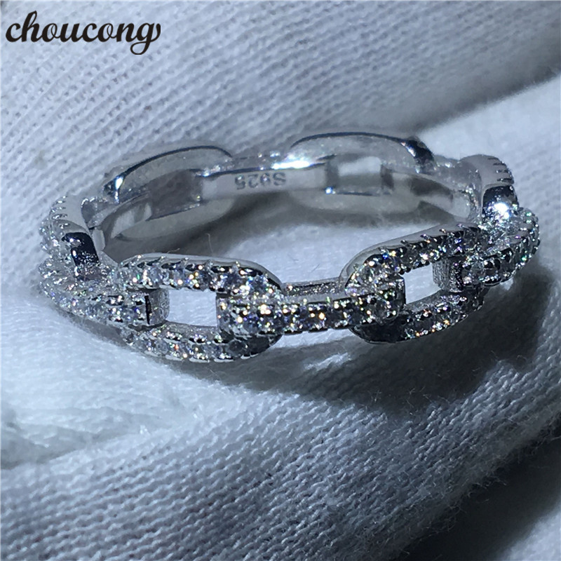 Choucong Wedding-Band Ring Luxury Jewelry 925-Sterling-Silver Zircon Women for Gift Soild