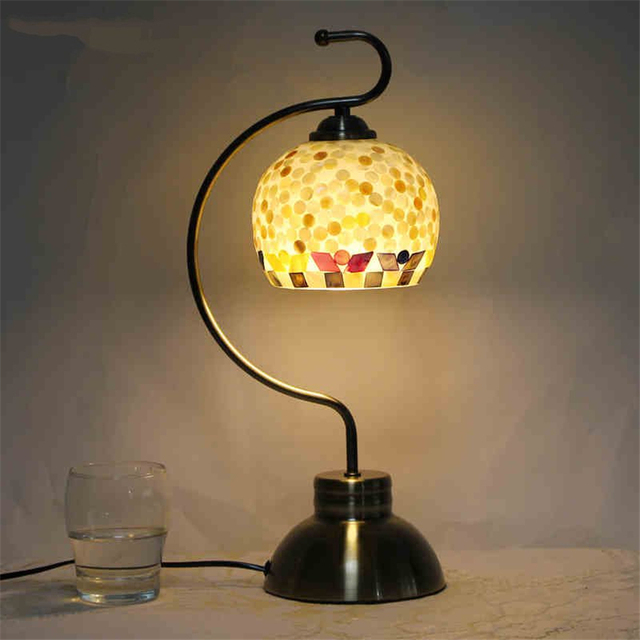 Charmant Original Table Lamps Lights Leaf Metal Lamp Body Fabric Lampshade New Desk  Lamp For Bedroom Decoration