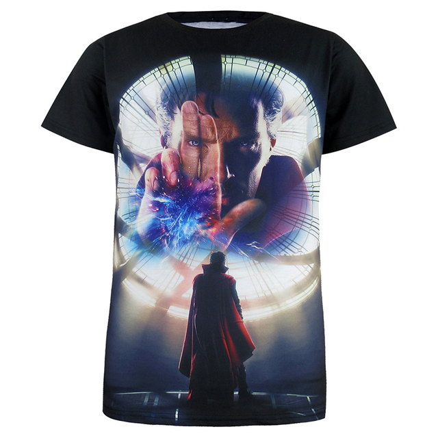 3582d6f9180 Camiseta de hombre Doctor Strange 3D superhéroe Batman Camiseta de manga  corta