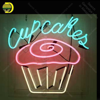 Cupcakes Neon Sign Baker Neon Bulbs sign Iconic Beer Bar Pub Club light Lamps Sign shop display advertise enseigne lumine