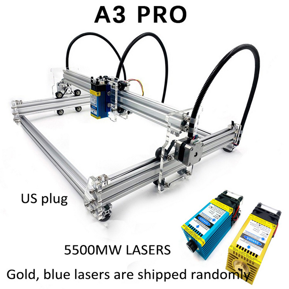 15W New A3 Pro Metal Laser Engraving Machine 500mw 2500mw 5500mw 15000mw Wood Router DIY Mini Laser Engraving Machine DIY