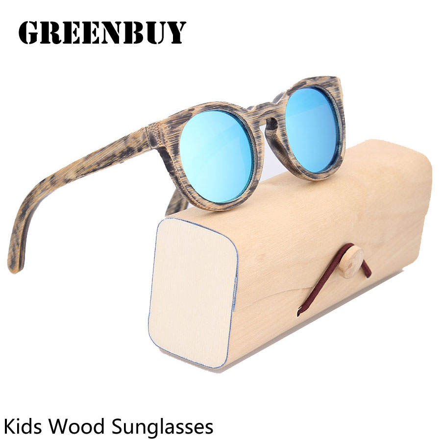 children sunglasses polarized round frame glasses for boys girls brand designer eyewear wood sunglasses kids cheap