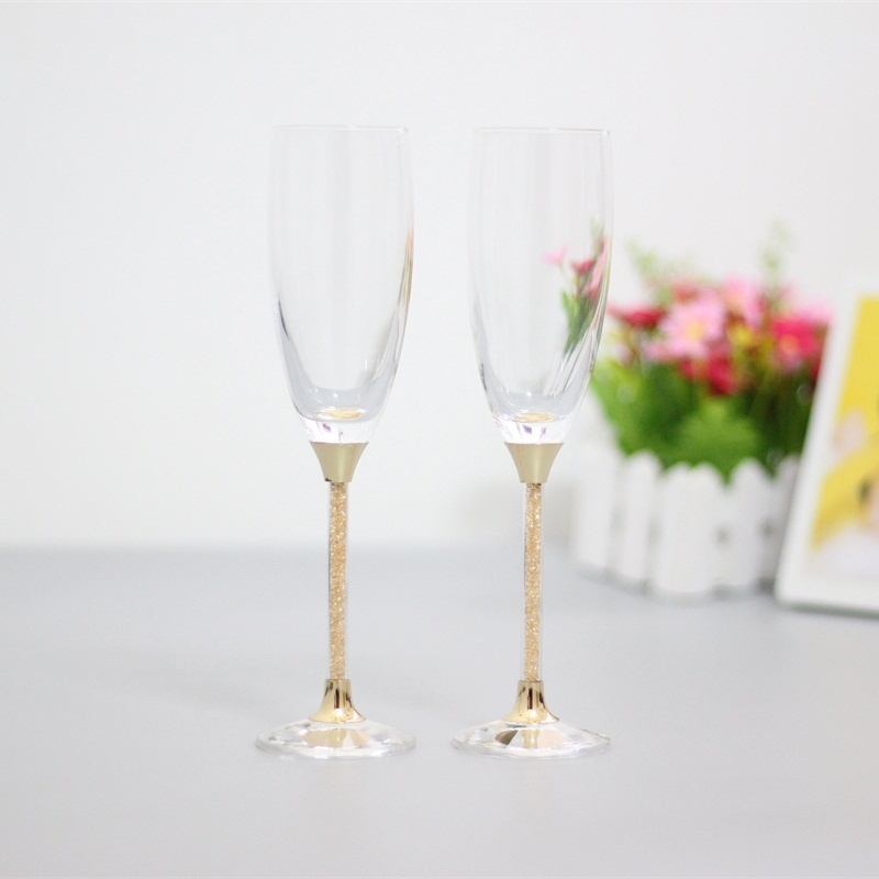 fashion toasting wedding glasses crystal champagne flutes for bride and groom drinking wine glass for lovers