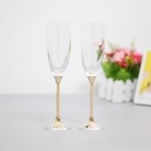 Модные тостов Свадебные бокалы хрустальные бокалы для шампанского для жениха и невесты винный бокал для подарки для любимых